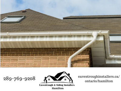 eavestrough with fascia
